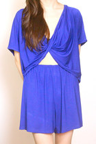 blue GoodNight Macaroon romper