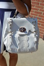 Navy-h-m-dress-camel-steve-madden-hat-white-tj-maxx-purse-gold-bandelino-s
