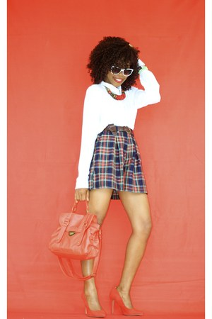 H&M shirt - cotton thrifted vintage shorts - Primark pumps