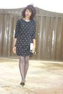 Primark-dress-chanel-scarf-qupidshoes-pumps