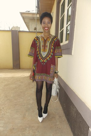Dashiki shirt - Hermes bag - Primark pumps