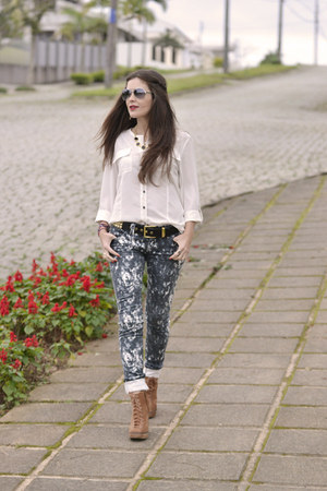 pants - boots - blouse