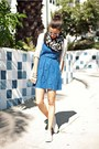 Blue-urban-outfitters-dress-black-dc-scarf