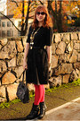 Black-sweater-red-american-apparel-tights-black-thrifted-skirt
