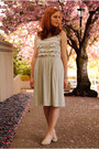 Silver-anthropologie-dress-beige-urban-outfitters-flats