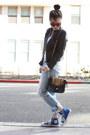 Sky-blue-boyfriend-levis-jeans-black-leather-collection-b-jacket