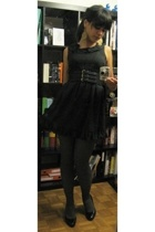 forever 21 dress - H&M belt - falke tights