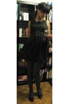 forever 21 dress - H&M belt - falke tights