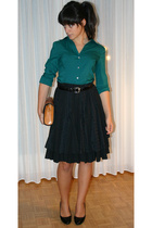 Express shirt - vintage skirt - max shoes shoes - vintage belt - antique purse