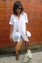 unknown shirt - unknown shorts - necklace - somewhere in HK shoes