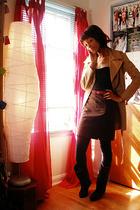 coat - H&M top - skirt - shoes
