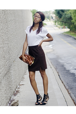 Fruit of the Loom t-shirt - skirt - forever 21 shoes - forever 21 accessories
