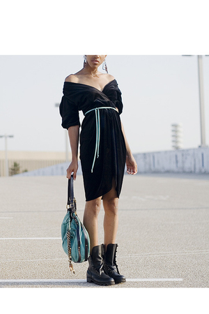 dress - Forever21 accessories - boots