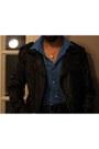 Black-leather-jacket-jacket-turquoise-blue-slim-fit-shirt-black-pants-blac