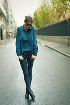 Zara blouse - Topshop jeans - Zara belt