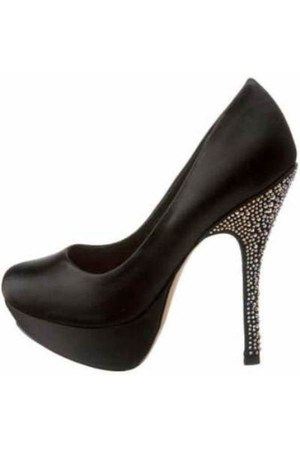 black satin Steve Madden pumps - pumps