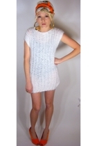 White crochet mini dress