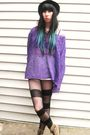 Purple-vintage-sweater