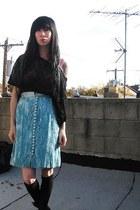 light blue vintage skirt