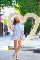 Chicwish shorts - zeroUV sunglasses - Chicwish blouse