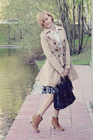 Topshop bag - asos boots - Topshop coat - Pepe Jeans skirt