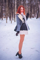 Sheinside coat - Chicwish skirt