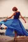 Blue-chiffon-asos-skirt-blue-print-river-island-top