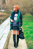 asos boots - Choies coat - Sheinside skirt