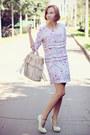 Aquarel-print-h-m-dress-eggshell-fringe-mango-bag-eggshell-suede-asos-heels