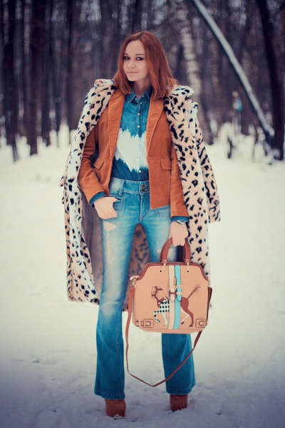 Sheinside coat - Udobuy boots - sammydress bag