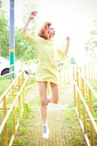 Choies dress - Choies sneakers - hickies stockings
