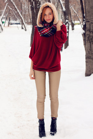 nowIStyle scarf - Aldo boots - H&M jeans - nowIStyle sweater
