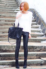Black-nowistyle-bag-white-nowistyle-top-black-asos-pants