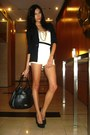 Paperbag-vintage-blazer-bag-topshop-shorts-claires-necklace-random-top-