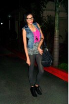 Freeway vest - Zara top - random top - F&H accessories - Charles & Keith boots -