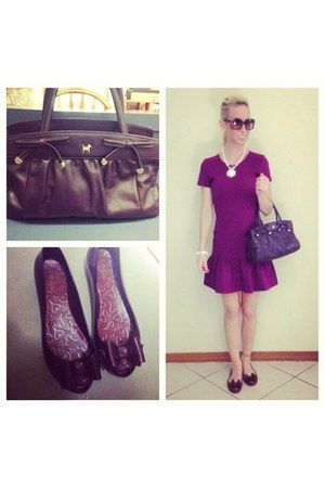 purple Juicy Couture dress - purple leather Radley bag