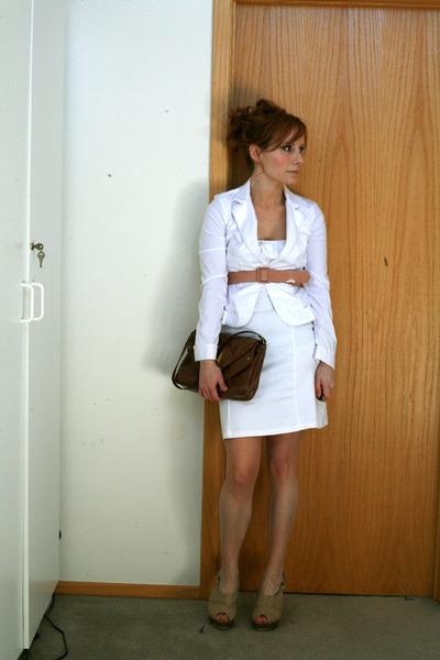 Express jacket - Victorias Secret dress - J Crew belt - hayden harnett for targe
