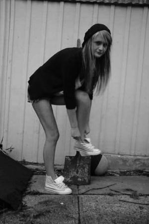 no tag jacket - rubi accessories - Sportsgirl t-shirt - Converse shoes - Wrangle