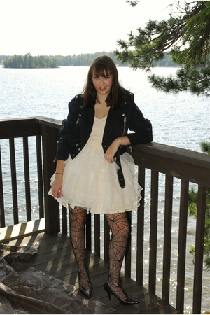 Value Village jacket - H&M dress - H&M tights - franco sarto shoes