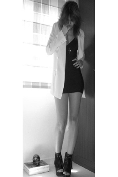 Mango dress - forever 21 shoes - Zara blazer
