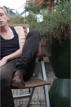 aa top - Helmut Lang jeans - Ermenegildo Zegna shoes