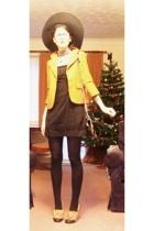 vintage blazer - asos dress - Accessorize hat - H&M sweater - Luella purse - Miu