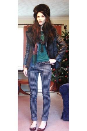 vintage jacket - H&M pants - vintage blazer - Zara t-shirt - Liberty of London p
