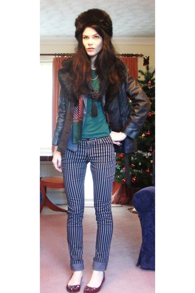 vintage jacket - H&M pants - vintage blazer - Zara t-shirt - Liberty of London p