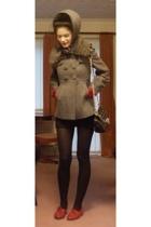 vintage shoes - American Apparel skirt - Luella purse - Therapy coat - Sara Berm