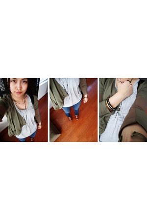 jacket - pants - accessories - top - clogs