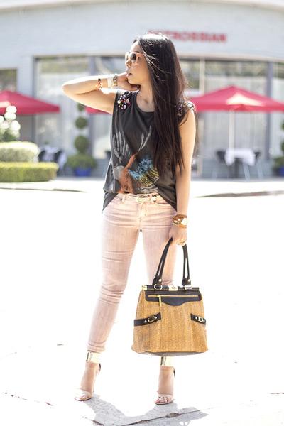 Olivia  Joy bag - Rich & Skinny jeans - Celine Paris sunglasses