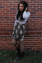 Gap shirt - Urban Outfitters skirt - Ebay boots