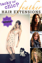 Feather Hair Extensions: Tacky or Chic?