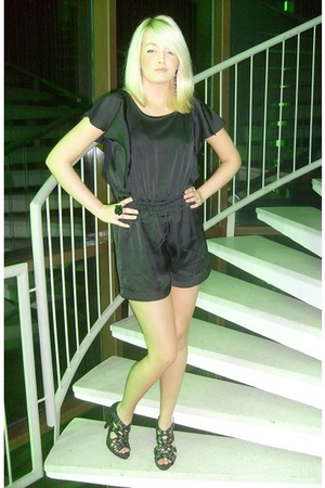 black H&M dress - black DinSko shoes - black H&M accessories - black GinaTricot